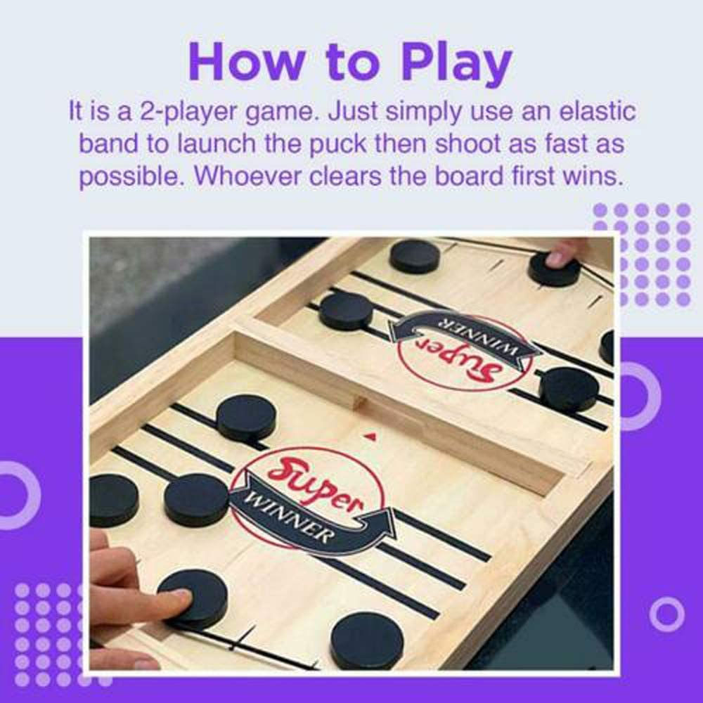 Tickas Bumper Hockey Game,Bouncing Chess Hockey Game Slingshot Board Game Parent-Child Interactive Game 2-Player Desktop Games Tabletop Game Indoor Party Game
