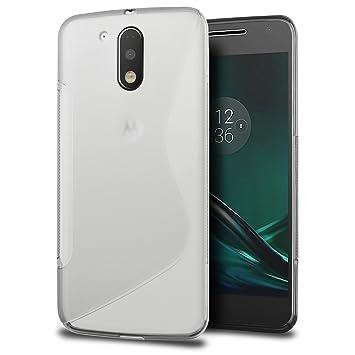 Funda Motorola Moto G4/G4 Plus, SLEO Slim Fit TPU Carcasa de Parachoques Case Traslúcido Suave con Absorción de Impactos y Resistente a los Arañazos ...
