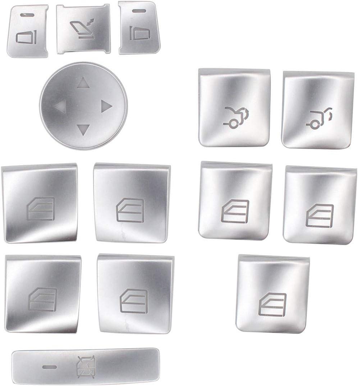 XtremeAmazing Car Window Glass Lift Button Trim Cover Cap Sticker Kit