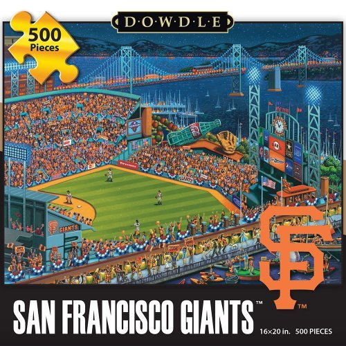 Dowdle Folk Art Jigsaw Puzzle - San Francisco Giants 500 Pc
