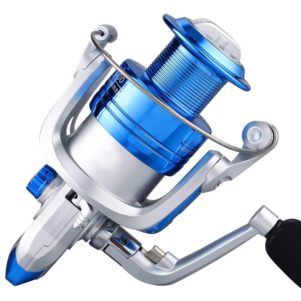 ROSOY Carrete de Pesca Art/ículos de Pesca Carrete de Pesca Carrete de Metal Mango Plegable autom/ático Peso Ligero Carrete de Pesca Ultra Suave Accesorios de Pesca