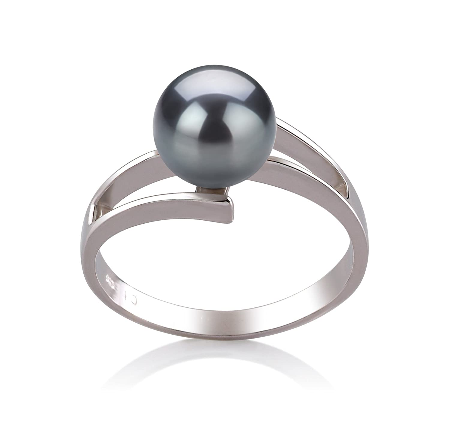 Black 7-8mm AAA Quality Freshwater 925 Sterling Silver Cultured Pearl Ring