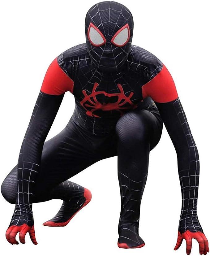 ASPIDER Spiderman Cosplay Araña negra para adultos Disfraz Disfraz ...