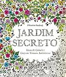 capa de Jardim Secreto. Livro de Colorir e Caça ao Tesouro Antiestresse
