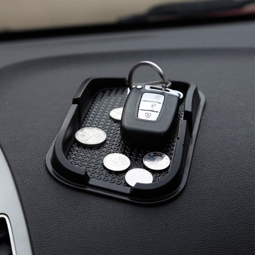 Universal Car Dashboard Anti-Slip Grip Pad Tray Cell Phone GPS Holder Accessories Black HUAhuako Car Anti-Skid Mat Pack of 1