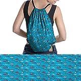 homehot Colorful Backpack Gym Bag RetroBicyclesLifestyle Large Drawstring Bag Multicolor.jpg