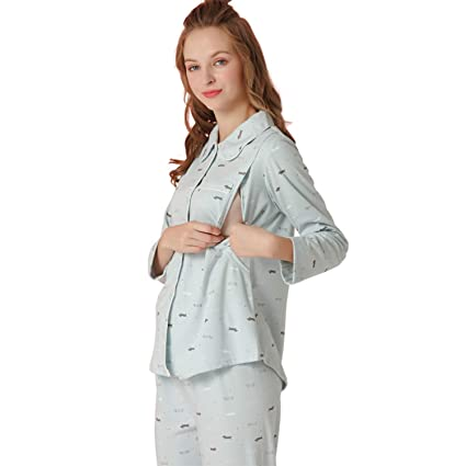 gran venta oferta especial completamente elegante AIBAB Mujer Embarazada Pijama Chandal Manga Larga Ropa ...