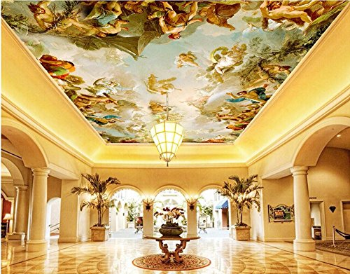 Lwcx Custom Photo 3D Wallpaper Non-Woven Picture European Character Painting Ceiling Mural 3D Wall Murals Wallpaper for Walls 3 D 300X210CM by LWCX (Image #4)