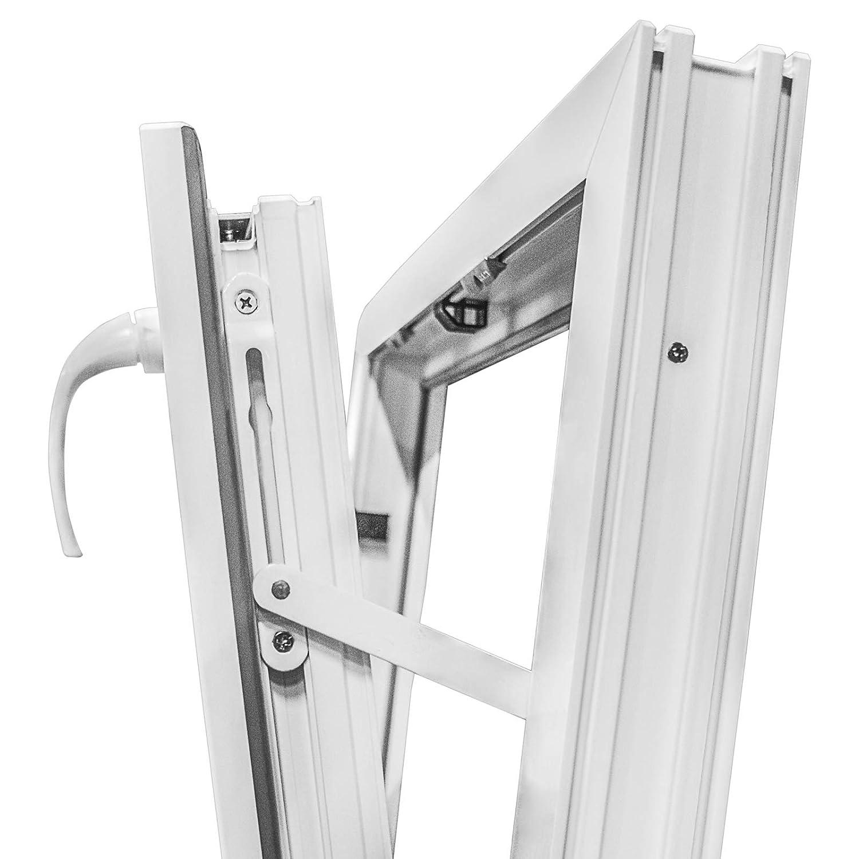 BxH: 60x120 cm Premium Kunststofffenster wei/ß Breite: 60 cm 2 fach Verglasung Kippfenster Fenster Kellerfenster