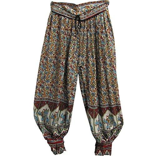 Womens Indian Bagroo Elephant Bohemian Yoga Harem Gypsy Pant