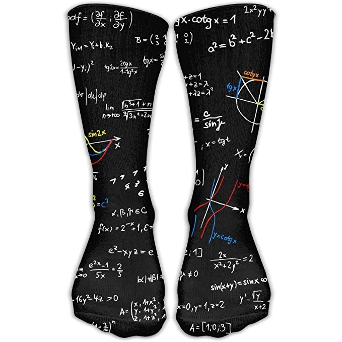 Math Lesson Unisex Novelty Crew Socks Ankle Dress Socks Fits Shoe Size 6-10: Amazon.es: Salud y cuidado personal