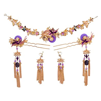 Amazon Kanrome New Classic Hair Jewelry Sets Traditional Bridal
