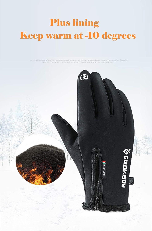 XIAOYAO Gants De V/élo Full Finger /Écran Tactile Coupe-Vent /Étanche Gants De Sport En Plein Air Hommes Femmes pour Automne ou Printemps Hiver