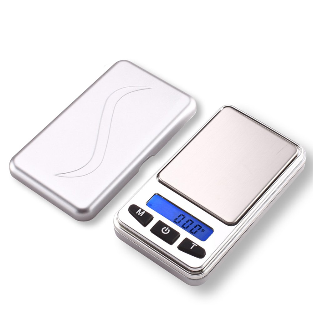 CGOLDENWALL 0.01g Battery-Powered Pocket Scale Jewelry Scale Gold Balance Tea Scale Portable high Precision Balance (200g/0.01g with a 200g Weight)