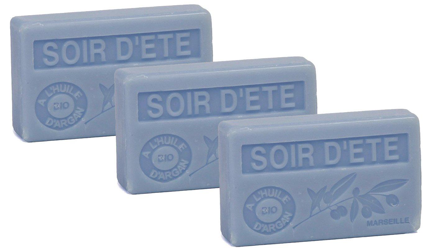 La Maison du Savon Organic Argan Summer Eve soap 100g(3 Pack)