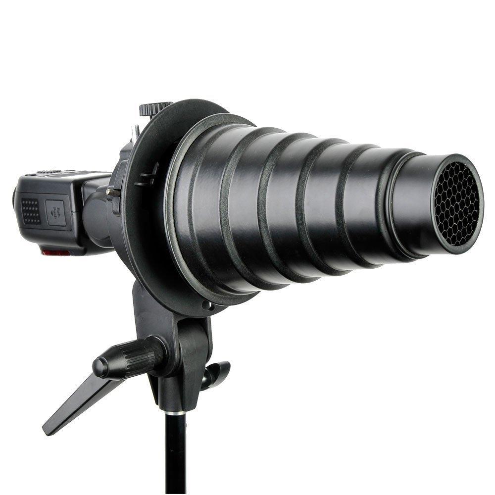Godox S-type-Soporte para paraguas para modificadores de luz negra