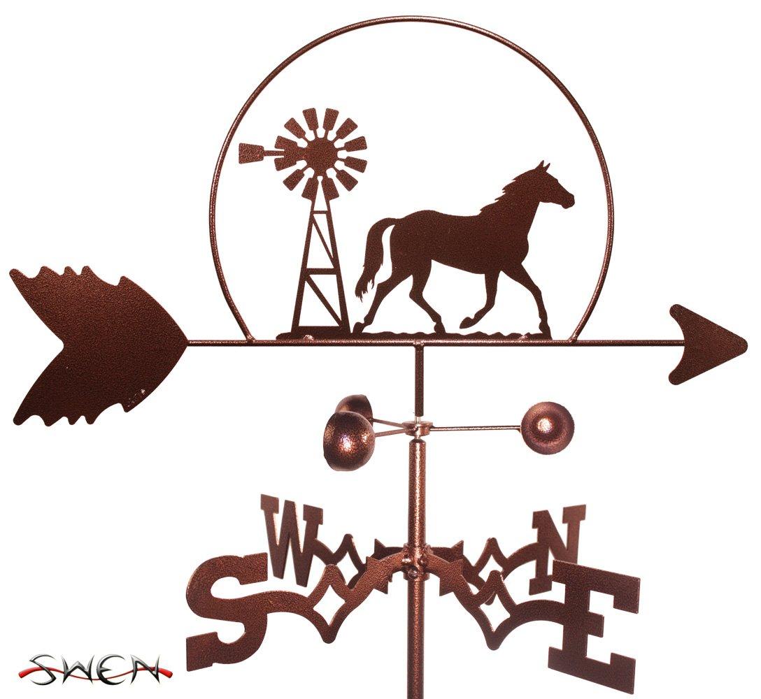 Hand Made QUARTER HORSE WINDMILL GARDEN Stake Weathervane ~NEW~