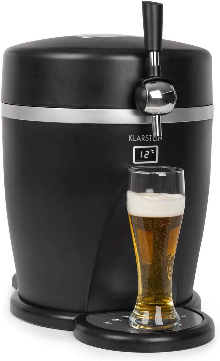 noir Distributeur de bi/ère mobile 2 en 1 avec refroidisseur de boissons Klarstein Tap2Go frigo de 13 l usage domestique et automobile refroidissement thermo/électrique f/ûts de 5 l jusqu/à 3/°C