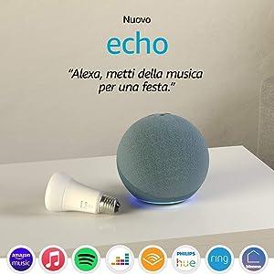 Nuovo Echo (4ª generazione), Ceruleo + Philips Hue White Lampadina