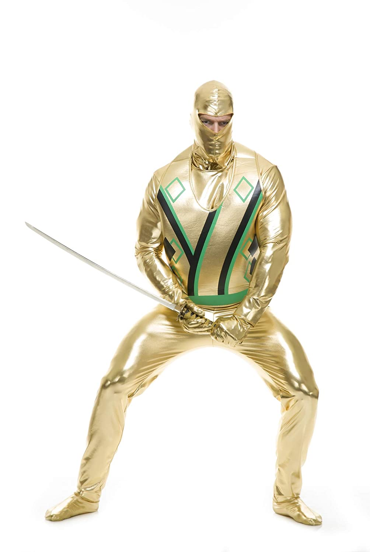 Adult\u0027s Mens Gold Ninja Avenger Series 3 Martial Arts Costume