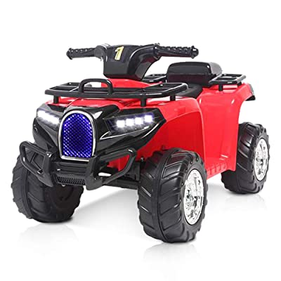 angstep Kids ATV, 6V Battery Kids Electric Vehicle, Four Wheeler Kids Car with 2 Speeds,Led Headlights, a Horn. (Red): Toys & Games