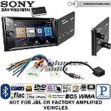 Volunteer Audio Sony XAV-W651BTN Double Din Radio Stereo Install Kit with Bluetooth, Pandora, iPhone Control, USB, AUX, Navigation Fits 2013-2015 Scion FR-S, BR-Z