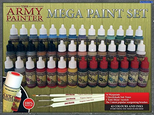 The Army Painter: Miniature Painting Kit, Mega Paint Set