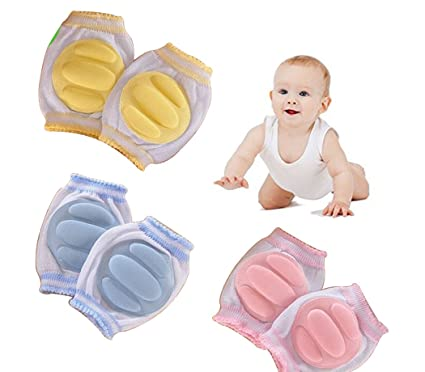 Beetest-EU-3 Pairs Breathable Adjustable Elastic Boy Girl Baby Infant Toddler Kneepads Knee Elbow Pads Crawling Safety Protector