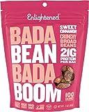 Enlightened Bada Bean Bada Boom Plant Protein Gluten Free Roasted Broad (Fava) Bean Snacks, Sweet Cinnamon, 3 Ounce (6…