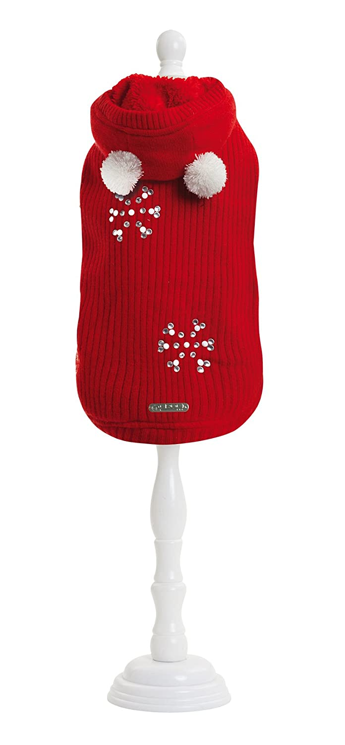 CROCI Lining with Peluche Sweater for Dogs, Red, 35 cm