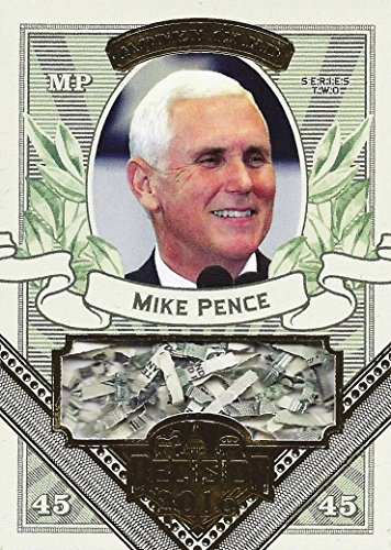 Mike Pence 2016 Leaf Decision Series 2 SHREDDED MONEY CARD (Federal Reserve) Extremely Rare Gold Parallel Insert Relic Presidential Politics Collectible Trading Card #MO28 (Reserve Mike)
