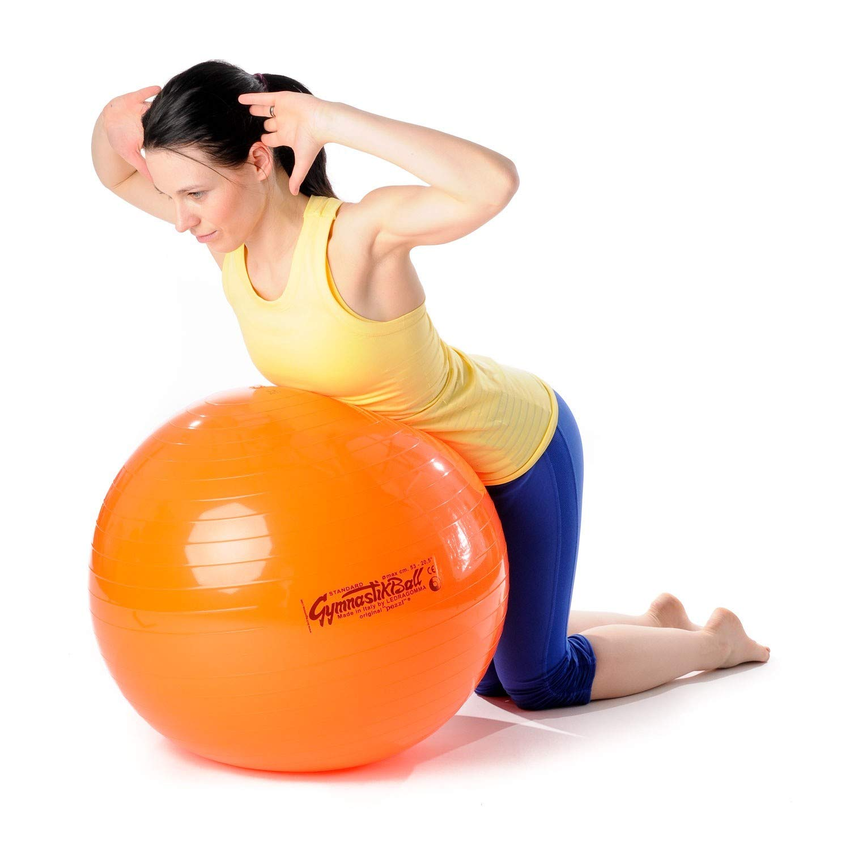 Pezzi Original Gymnastikball Standard /Ø 42 cm bis 75 cm inkl Ballschale und Ballpumpe bis 400 kg belastbar Training Fitness Reha Therapie