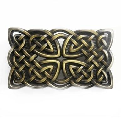 211dd1a9eedc Ivory Falcon irlandais Croix Celtique et nœud Boucle de ceinture Bronze