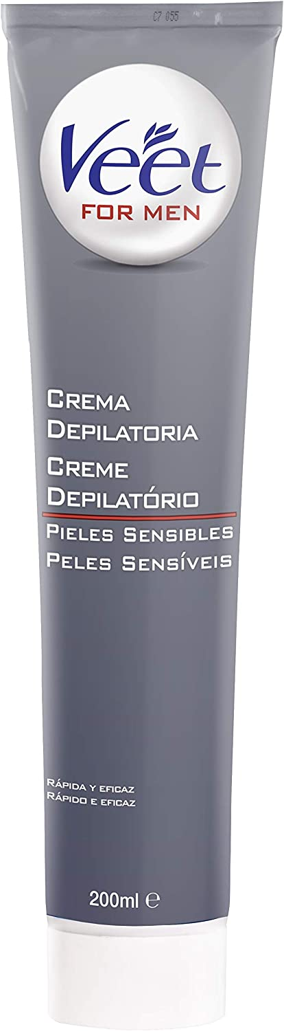 Veet for Men Crema Depilatoria Corporal para Hombre con Spray, Piel Normal, 150 ml: Amazon.es: Belleza