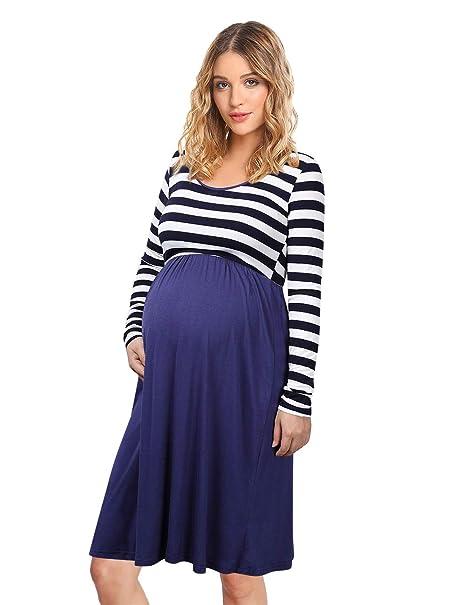9d2de4128045 KOJOOIN Vestito Premaman Donna Taglie Forti Abito di maternità Elegante  Abito di Gravidanza  Amazon.it  Abbigliamento