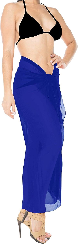LA LEELA Schiere Chiffon Aloha Bali Schal Kleidsarong solide