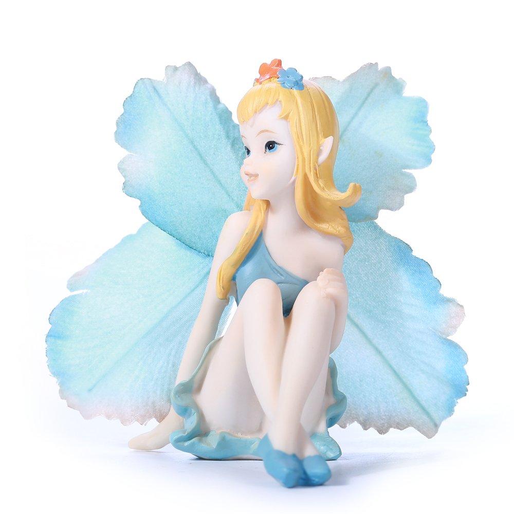 Cicilia Virtus Miniature Fairy Garden Figurines Statues-Little Angele Lady Home Decorative Accessories by