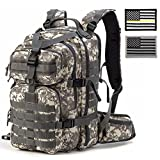 Gelindo Military Tactical/Hydration Backpack for Hunting/Survival with Flag Patches of 2(Black), Camouflage