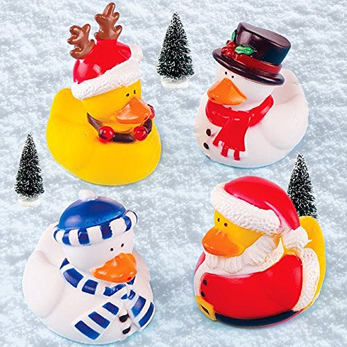 amazoncom funky christmas ducks perfect stocking filler for children pack of 4 home kitchen - Christmas Duck