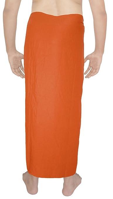 La Leela weicher Viskose feste Badeanzug Sarong Pareo wickeln große 78x39  Orange: LA LEELA: Amazon.de: Bekleidung