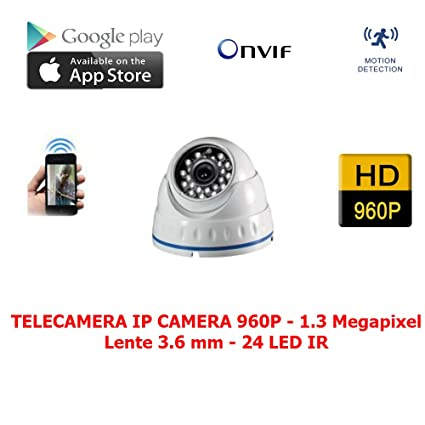 Cámara IP Camera Dome 1.3 Mpx 24 LED ONVIF Full HD 1080p NVR Vigilancia P2P visión