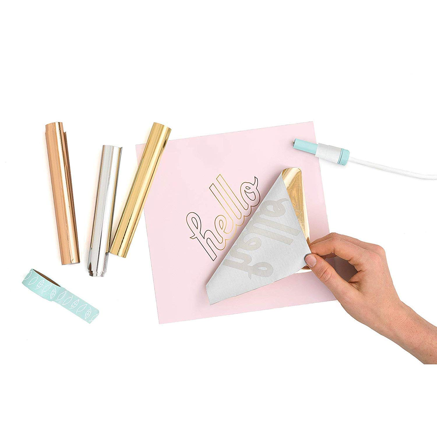 Foil Quill All-in-One Bundle, 3 Quill Sizes, Adapters, Foils, Tape, Design Card by We R Memory Keepers (Image #7)