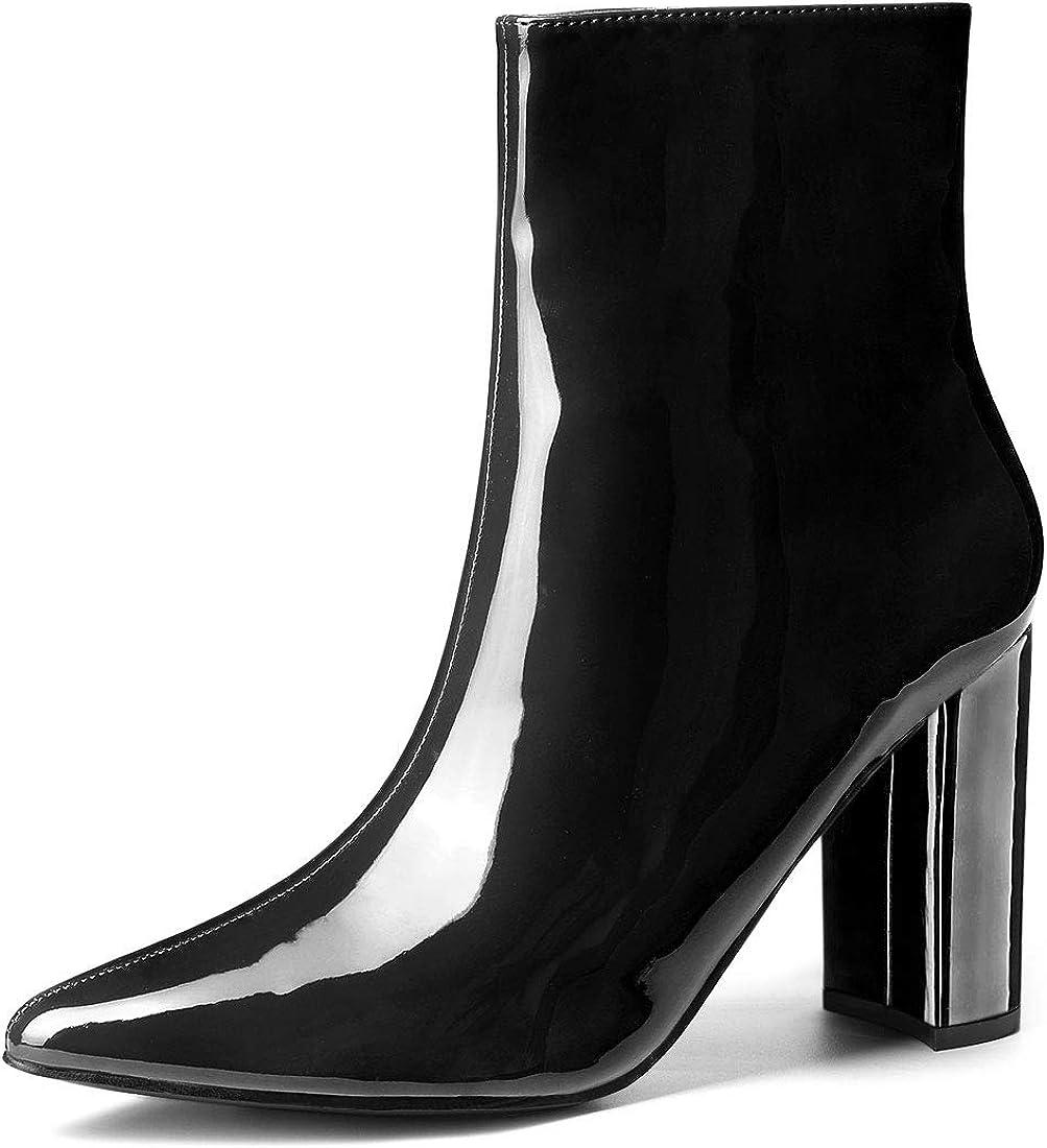 Allegra K Women's Chunky Heel Pointed
