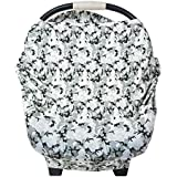 HI Live Vibrant Baby Car Seat Cover - Black, White, and Grey camouflage - waterproof & breathable - Great for Boys & Girls - Joggers - Best for cute newborn infant babies - Cheap trendy amazon sets