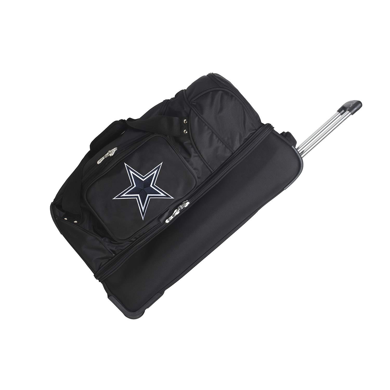 NFL Dallas Cowboys Rolling Drop-Bottom Duffel Bag, 27-inches