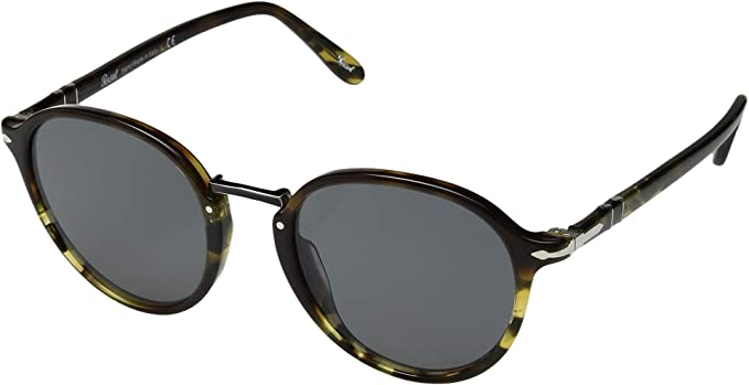 Persol 0PO3184S Gafas de sol, Wrap, 51, Tortoise Green Brown ...