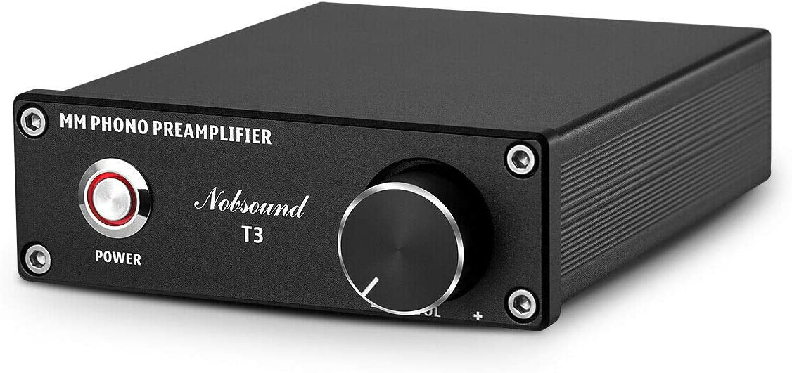 Nobsound T3 MM Phono Preamp Record Player Preamplifier HiFi Turntable Amplifier