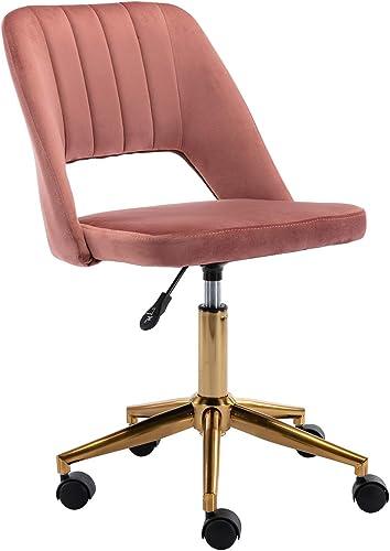 Kmax Velvet Desk Chair Swivel Home Office Task Chair Cute Vanity Stool Chair
