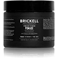 Brickell Men's Strong Hold Texturizing Pomade For Men, Natural and Organic, Pliable Fiber Pomade, 2 Ounce, Scented