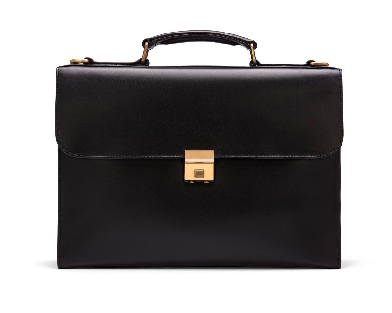 SAGEBROWN Black Wall Street Briefcase